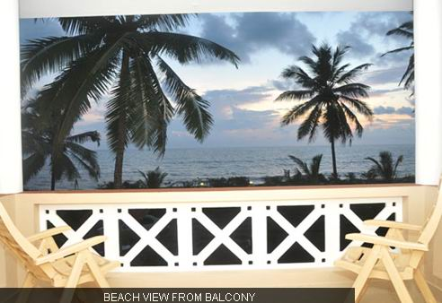 Asokam beach view from balcony